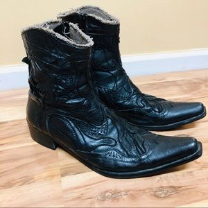 Aldo black western boots